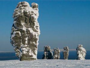 Одно из природных чудес России на горе Мань-Пупу-нёр