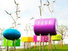 Игровая площадка в Шанхае, работающая от энергии ветра