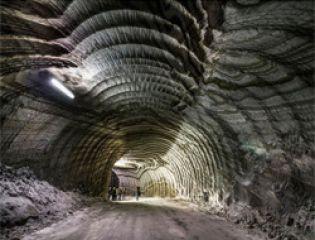 Удивительные узоры на стенах соляной шахты