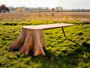 Дизайнер превращает погибшие деревья в поразительные предметы мебели
