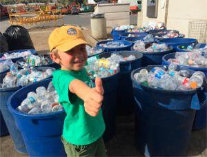 Самый юный защитник природы начал переработку мусора в 3 года
