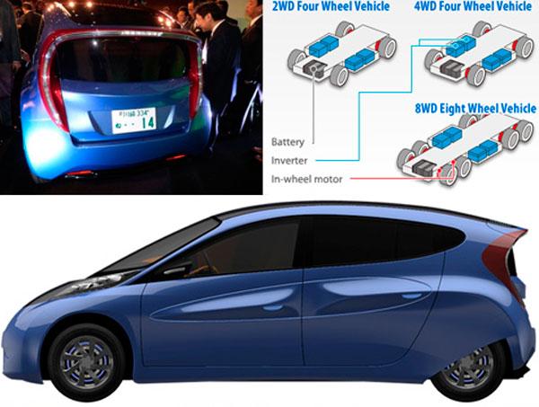 схема установки электродвигателей и батарей.